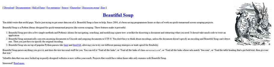 BeautifulSoup, фреймворк с открытым исходным кодом
