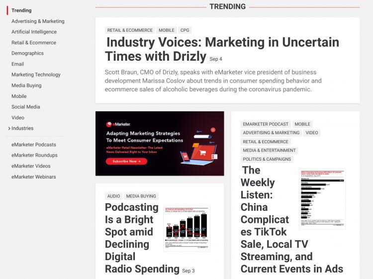 блог о маркетинге eMarketer
