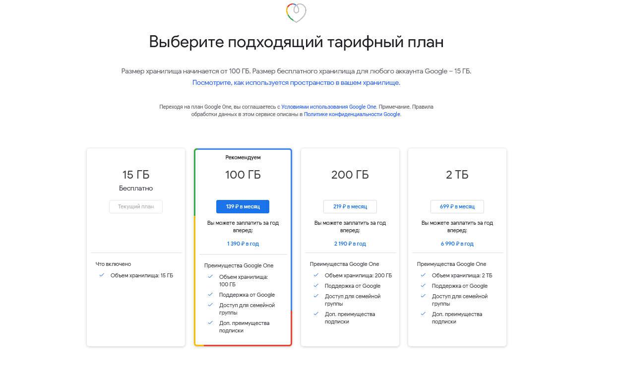 Google Фото, диск Drive
