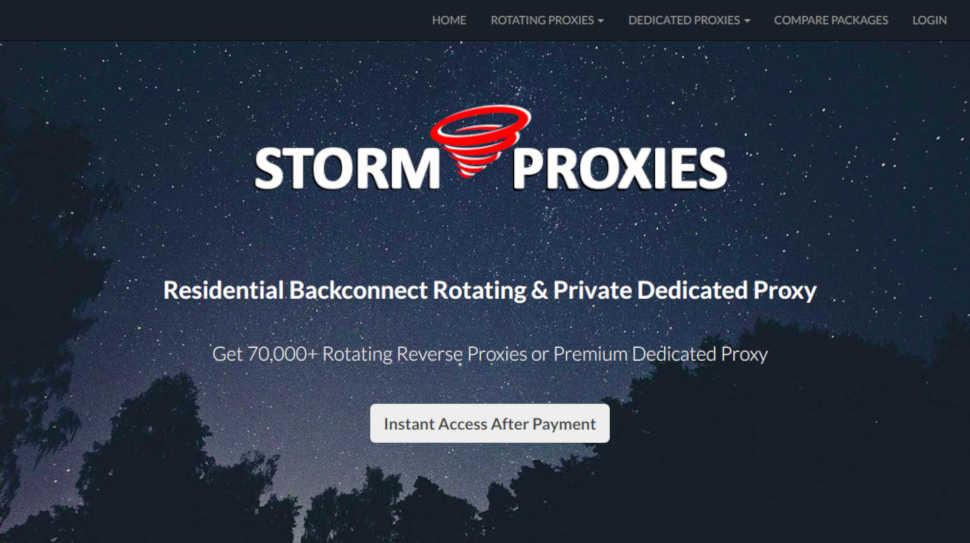 Storm Proxies прокси-сервер