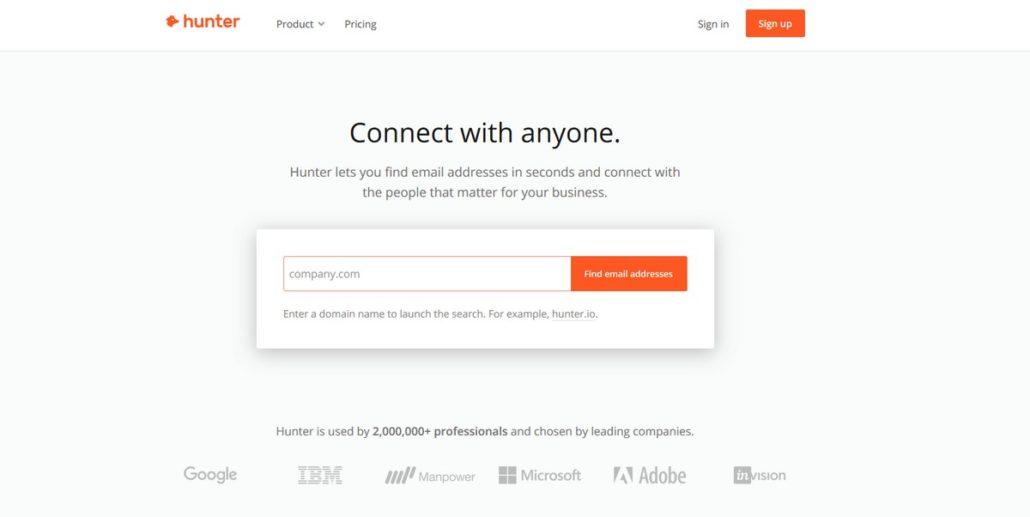 Инструменты для парсинга адресов электронной почты: сервисы и парсеры имейлов - Hunter.io