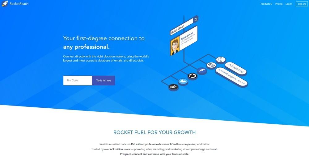 Сервис Rocketreach